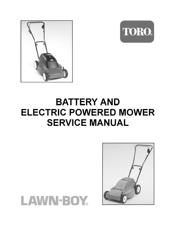toro lawn boy battery and electric powered lawn mower service manual rh lawn garden filemanual com lawn boy 10525 service manual lawn boy service manual free