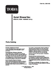 Toro 51589 Quiet Blower Vac Parts Catalog, 2000 page 1