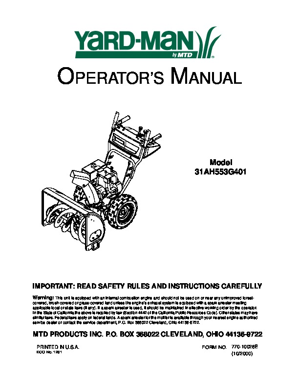 mtd 31ah553g401 manual how to and user guide instructions u2022 rh taxibermuda co mtd snowblower service manual mtd snowblower service manual