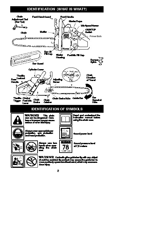 mcculloch mac 140 chainsaw manual
