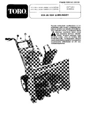 Toro 38045 524 Snowblower Manual, 1982-1986 page 1