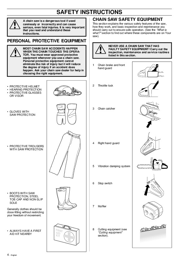 Husqvarna 395xp Chainsaw Owners Manual 2000 2001 2002 Manual Guide