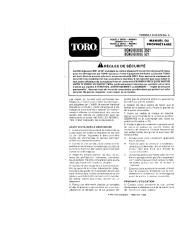 Toro 38052 521 Snowthrower Manuel des Propriétaires, 1990 page 1