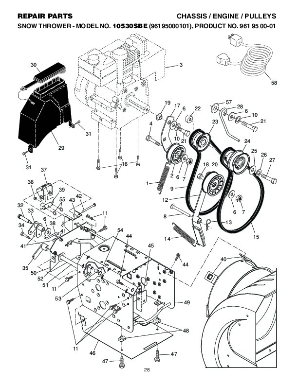 Craftsman Lt 1000 Parts additionally Toro Fuel Filter Location besides Murray Riding Lawn Mower Parts Diagram in addition Poulan Pro 10530sbe 96195000101 961 95 00 01 Snow Blower Repair Parts Manual additionally New Holland Ls170 Skid Steer Wiring Diagram. on poulan lawn mower parts