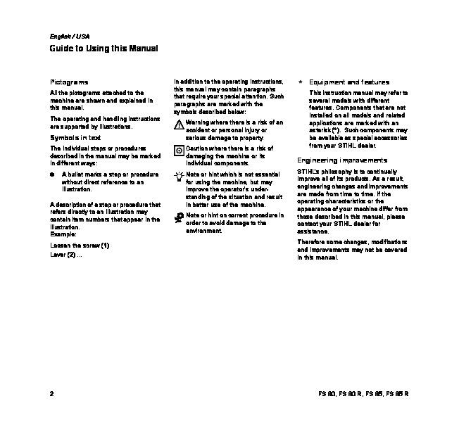 Stihl fs 80 manual car owners manual fs 80 user guide various owner manual guide u2022 rh justk co stihl fs 80 av service manual stihl fs 80 manuel fandeluxe Choice Image