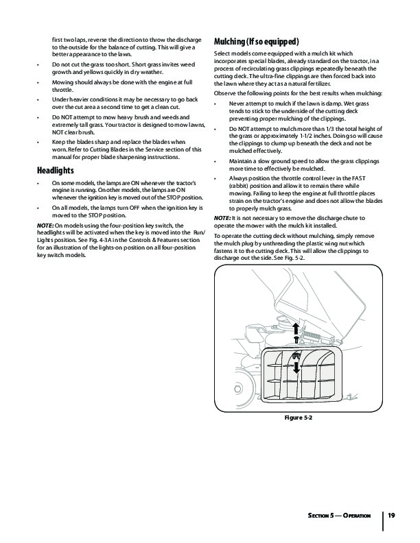 Mtd Tractor Manual : Mtd hydrostatic tractor lawn mower owners