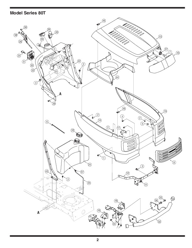 Mtd Lawn Tractor Parts : Mtd series automatic garden tractor lawn mower parts list