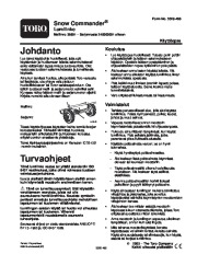 Toro 38601 Toro Snow Commander Snowthrower Owners Manual, 2004 page 1