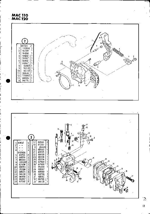 mcculloch mac 110 120 chainsaw service parts list rh filemanual com mcculloch mac 120 chainsaw specs Vintage McCulloch Chainsaw Parts