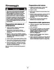Toro 38053 824 Power Throw Snowthrower Manuale Utente, 2003 page 27