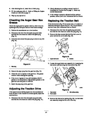 Toro 38053 824 Snowthrower Owners Manual, 2000, 2001 page 21