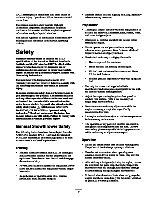 Toro 38053 824 Snowblower Owners Manual  2000-2001