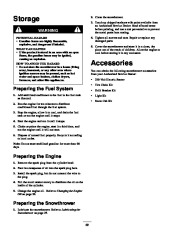 Toro 38053 824 Snowthrower Owners Manual, 2000, 2001 page 30