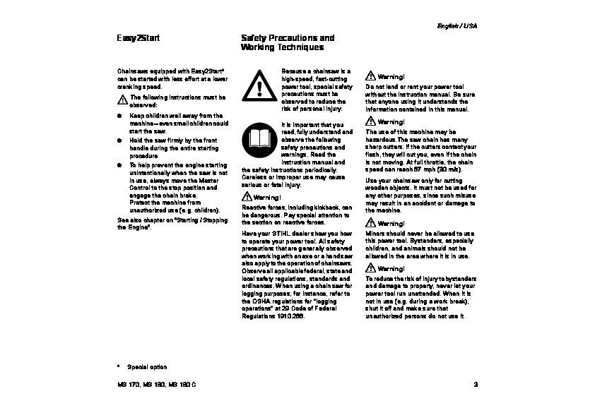 stihl ms 381 manual pdf