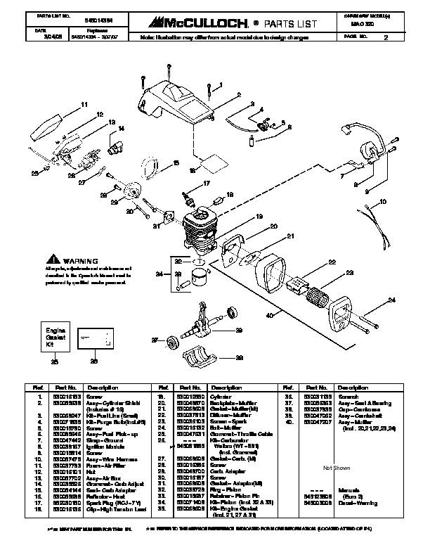mcculloch mac 320 chainsaw service parts 2003 2004 2005 2006 2007 2008 rh filemanual com mcculloch mt 320 petrol strimmer manual