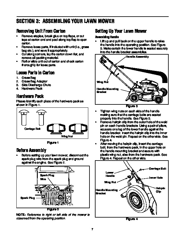 Huskee Mower Manuals : Mtd series inch self propelled rotary lawn mower