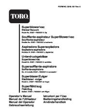 Toro 51557 Super Blower Vac Manual, 1997 page 1