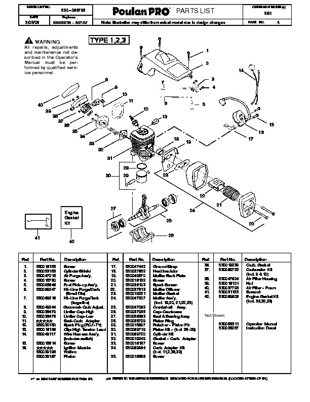poulan pro 260 chainsaw parts list  2008 bobcat snow thrower manual pdf snow thrower manual for john deere x590