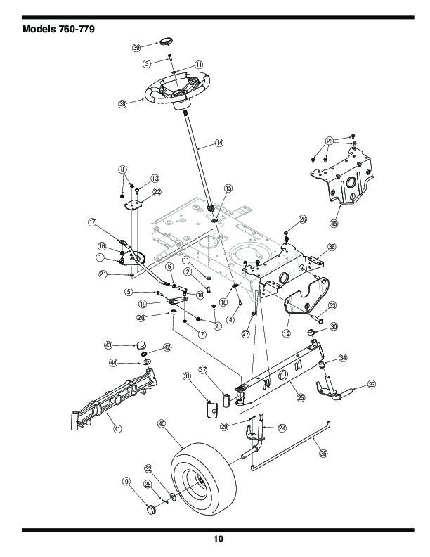 Mtd Tractor Manual : Mtd transmatic lawn tractor mower parts list