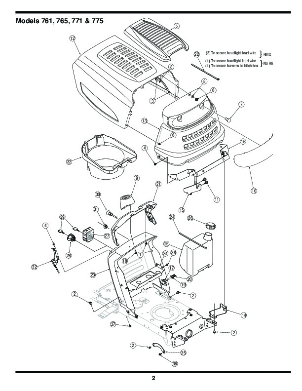 Mtd 760 779 Transmatic Lawn Tractor Mower Parts List on riding lawn mower belts