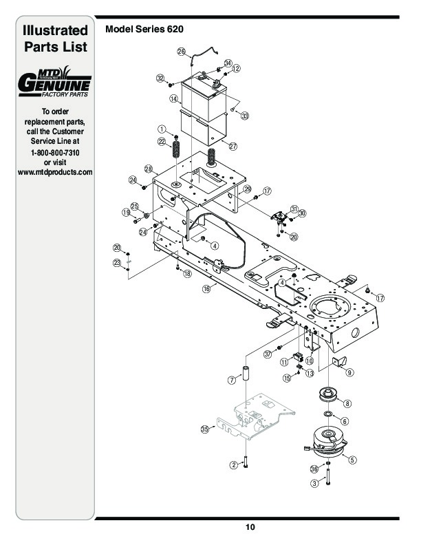 Huskee Mower Manuals : Mtd hydrostatic lawn tractor mower parts list