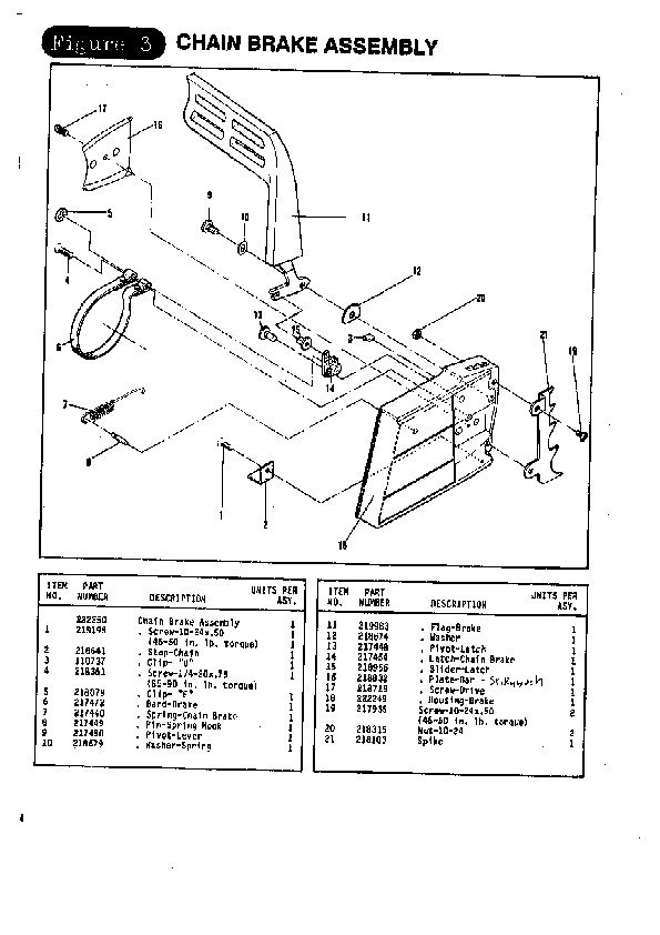 mcculloch titan 50 57 chainsaw parts list 1988. Black Bedroom Furniture Sets. Home Design Ideas