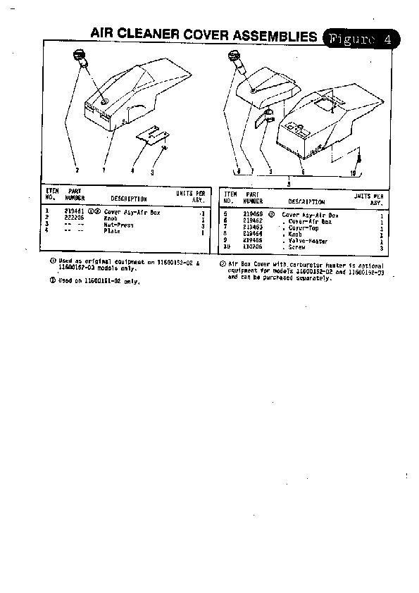 mcculloch titan 50 57 chainsaw parts list  1988 noma snow thrower manual noma snow thrower manual