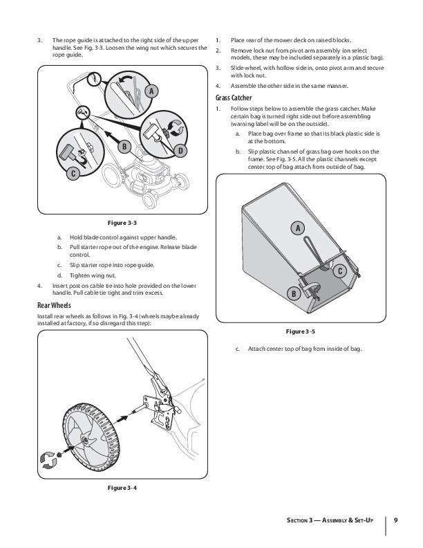 Huskee Mower Manuals : Mtd m push lawn mower owners manual