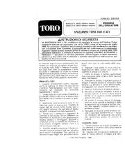 Toro 38052C 521 Snowthrower Manuale Utente, 1989 page 1