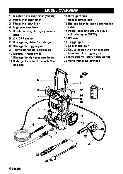 karcher electric pressure washer manual