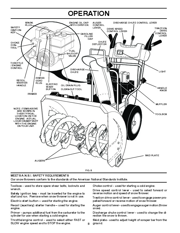 poulan pro xt5524es 422083 snow blower owners manual 2008