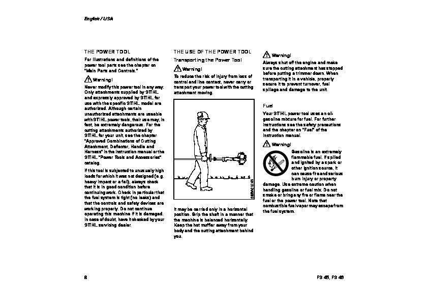 STIHL FS 45 46 Trimmer Owners Manual