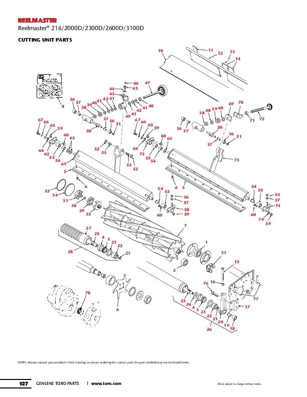 toro reelmaster 216 2000d 2300d 2600d 3100d traction unit parts specs rh filemanual com Toro Reelmaster 216 Parts Toro Reelmaster 216 USA