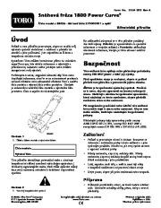 Toro 38026 1800 Power Curve Snowthrower Instrukcja Obsługi, 2009 page 1