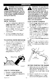 Craftsman 536.881501 Craftsman 22-Inch Snow Thrower Owners Manual page 10