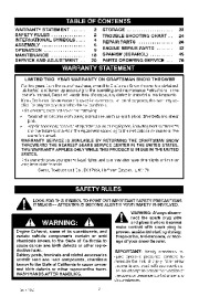 Craftsman 536.881501 Craftsman 22-Inch Snow Thrower Owners Manual page 2