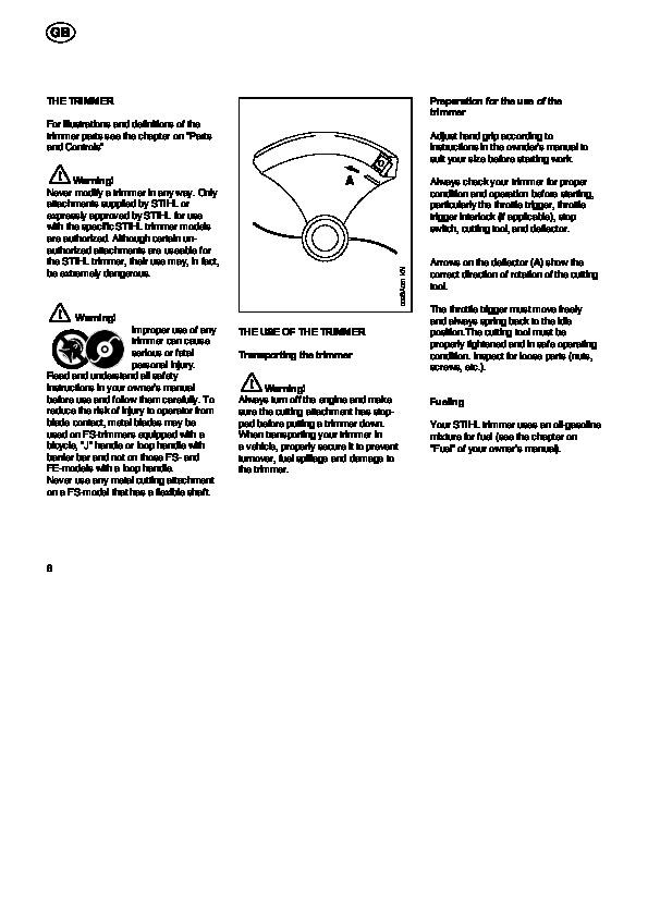 триммер Stihl Fs 36 инструкция - фото 7