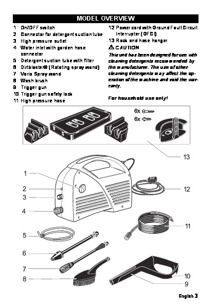 karcher electric pressure washer manual