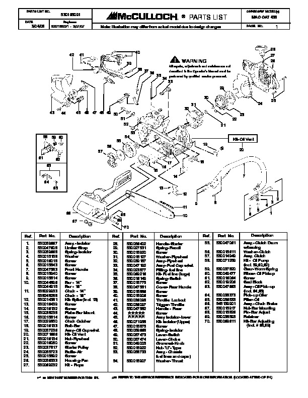 motorcycle motors diagram with Mcculloch Mac Cat 438 Chainsaw Service Parts List on Royal Enfield Bullet Engine Cutaway further 161718060697 in addition Rotax 503 Aircraft Engine Wiring Diagram likewise 3 additionally 2015 Mx Buyers Guide.