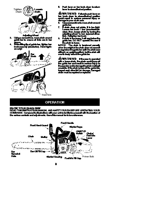 poulan pro sm4218avx chainsaw owners manual  2010