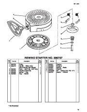 Toro 38054 521 Snowthrower Parts Catalog, 1996 page 13