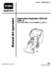 Toro 62925 206cc OHV Vacuum Blower Manual del Propietario, 2006 page 1
