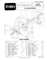 Toro 38052 521 Snowblower Manual, 1986 page 1