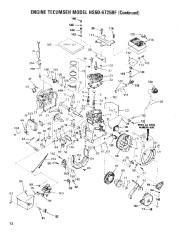 Toro 38052 521 Snowthrower Parts Catalog, 1986 page 12
