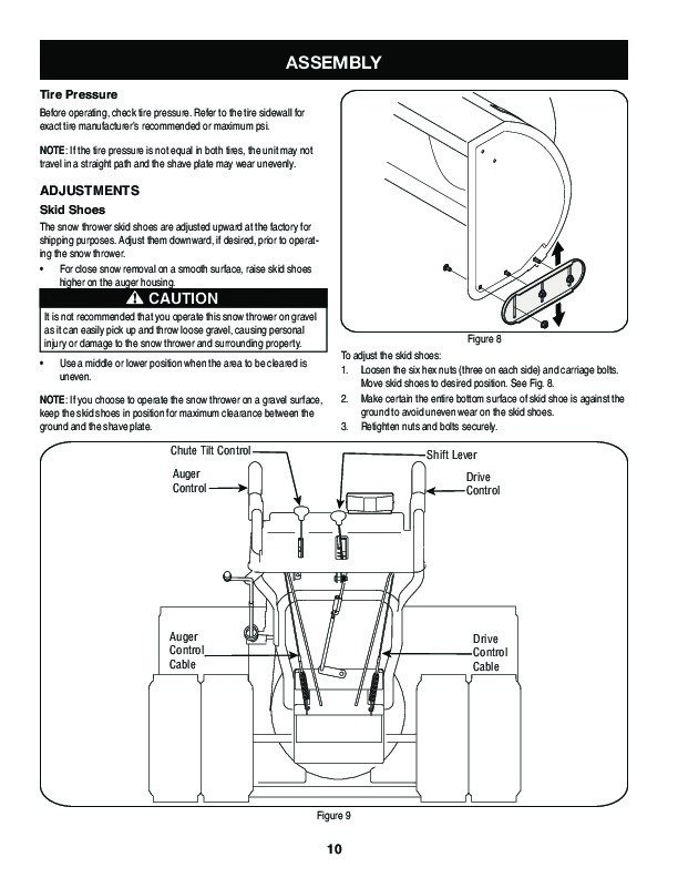 craftsman 30 inch snow blower manual