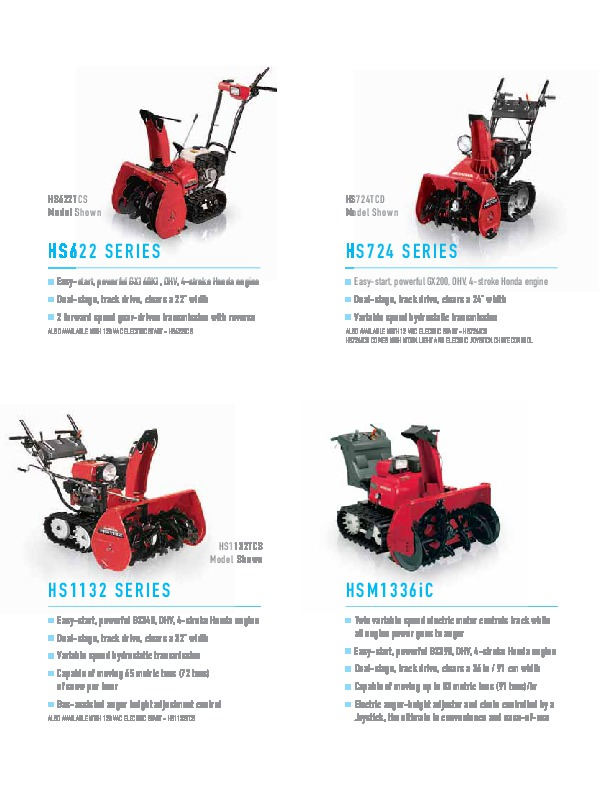 honda hs520 hs621 hs928wc hs928tc snow blower catalog rh filemanual com Example User Guide User Guide Icon