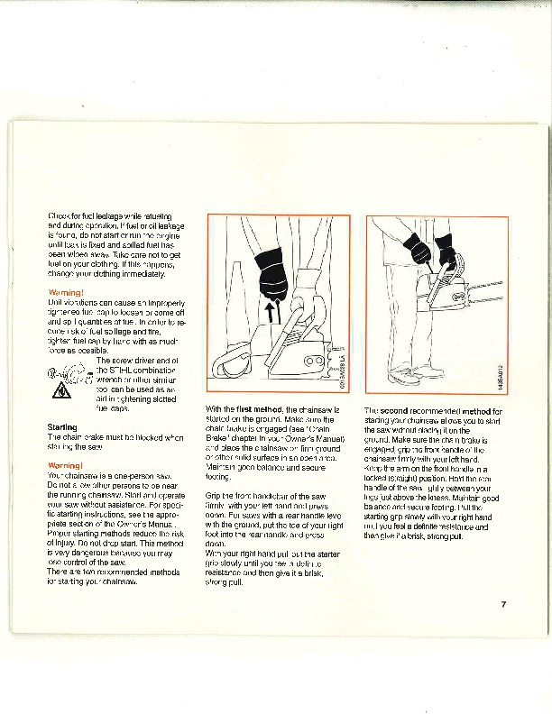 STIHL 064 Chainsaw Owners Manual