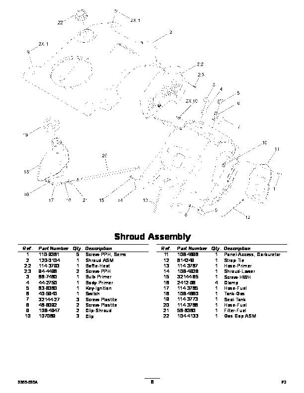 Toro Power Clear 210 Manual : Toro power clear es snow blower parts manual