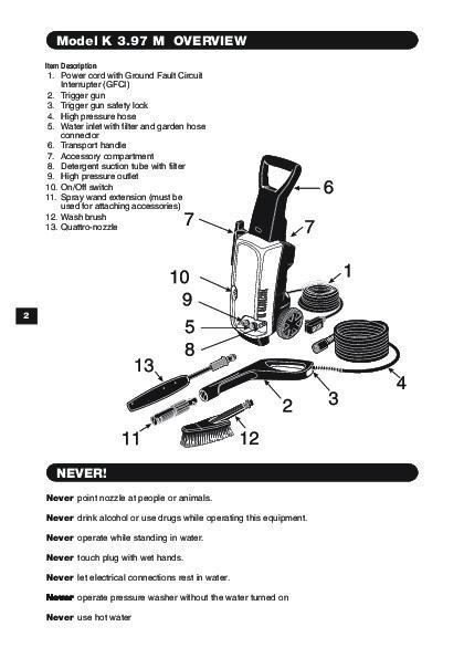 Karcher K3 97m Service Manual Manuell Zone