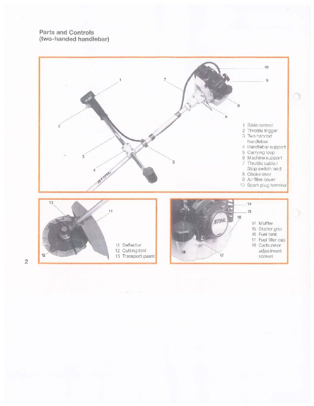 Stihl Fs 81 86 106 Trimmer Owners Manual